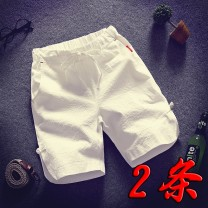 Casual pants Others Youth fashion 5XL,4XL,3XL,2XL,XL,L,M routine Shorts (up to knee) Other leisure easy Micro bomb summer youth Chinese style 2018 middle-waisted Straight cylinder Cotton 100% Sports pants Pocket decoration Solid color cotton cotton More than 95%