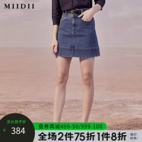 skirt Autumn 2020 S M L XL XXL Short skirt commute High waist A-line skirt Type A 25-29 years old 51% (inclusive) - 70% (inclusive) The answer cotton literature Same model in shopping mall (sold online and offline)