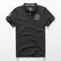 Polo shirt Basic power Business gentleman routine S. M, l, XL, 2XL, 3XL, full two minus 20, collection priority delivery standard business affairs summer Short sleeve Business Casual routine youth Solid color cotton No iron treatment Embroidery 50% (inclusive) - 69% (inclusive)