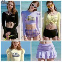 Split swimsuit ROLAROLA Black top, lavender top, life top, lemon top, black skirt, lavender skirt S,M,L No steel support, no chest pad