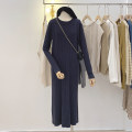 Dress Winter of 2019 Average size Mid length dress singleton  Long sleeves commute Crew neck Loose waist Solid color Socket other routine Others 25-29 years old Type H Simplicity 51% (inclusive) - 70% (inclusive) other other