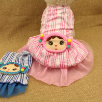 Pet clothing / raincoat Dog Dress Size 8: Bust 26, about 2 kg, size 10: Bust 30, about 3-4 kg, size 12: Bust 34, about 4-5 kg, size 14: Bust 40, about 6-7 kg, size 16: Bust 44, about 8-10 kg Other / other princess Blue, pink