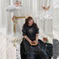Women's large Summer 2020 Dress singleton  Sweet easy moderate Socket Short sleeve other puff sleeve 18-24 years old Lace stitching Medium length Princess Dress Lolita