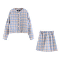 short coat Autumn 2020 S,M,L Long sleeves have cash less than that is registered in the accounts routine Two piece set Self cultivation street lattice 18-24 years old