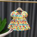 Dress female DD. Tang / ditiaotang 73cm 80cm 90cm 100cm 110cm Other 100% summer princess Short sleeve Broken flowers cotton A-line skirt Class A Summer 2021 3 months 12 months 6 months 9 months 18 months 2 years 3 years 4 years old