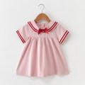 Dress Pink female DD. Tang / ditiaotang 73cm 80cm 90cm 100cm 110cm Other 100% summer princess Short sleeve Solid color cotton A-line skirt Summer of 2019 12 months, 6 months, 9 months, 18 months, 2 years, 3 years, 4 years