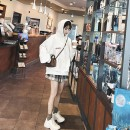 Dress Winter of 2019 White sweater + plaid skirt S,M,L,XL Short skirt Two piece set Long sleeves commute Hood High waist lattice Socket A-line skirt routine Others 18-24 years old Korean version 71% (inclusive) - 80% (inclusive) other polyester fiber