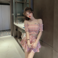 Fashion suit Summer 2020 S. M, average size Pink top , Green top , Pink skirt , Green skirt 18-25 years old 30% and below polyester fiber