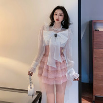 Fashion suit Spring 2021 S,M,L white shirt 18-25 years old 30% and below polyester fiber