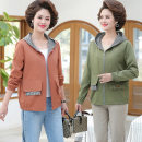 Middle aged and old women's wear Spring 2021 Intellectuality Jacket / jacket easy singleton  Solid color 50-59 years old Cardigan moderate Hood Medium length (length 50-70cm) routine Weishilu pocket polyester 31% (inclusive) - 50% (inclusive) zipper