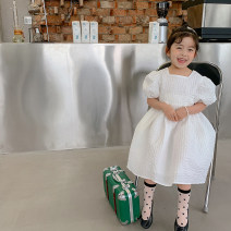 Dress Moonlight Sonata, the second batch of Moonlight Sonatas female The Little Avery 90cm,100cm,110cm,120cm,130cm Cotton 100% summer princess Short sleeve Solid color cotton Princess Dress 12 months, 18 months, 2 years old, 3 years old, 4 years old