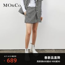 Casual pants Black and white check XS/155 S/160 M/165 L/170 XL/175 Spring 2021 shorts Straight pants High waist street thickening 25-29 years old MBA1SOTT02 MO & Co. / Moco Polyester 72.1% cotton 27.9% Same model in shopping mall (sold online and offline) Europe and America