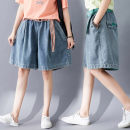 Jeans Summer 2020 Red, green, yellow M [95-110kg], l [105-120kg], XL [120-135kg], 2XL [135-150kg] Pant High waist Wide legged trousers routine 25-29 years old Old, washed other light colour Other / other 81% (inclusive) - 90% (inclusive)