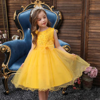 Dress female Other / other 100cm,110cm,120cm,130cm,140cm,150cm Cotton 100% Korean version Solid color Pure cotton (100% cotton content) Class A 2 years old, 10 years old