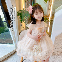 Dress Apricot gauze skirt, gauze skirt + pink crown, gauze skirt + pink crown + pearl bag female Neon workshop The recommended height is about 90cm for Size 90, 100cm for size 100, 110cm for Size 110, 120cm for Size 120 and 130cm for Size 130 Other 100% summer Korean version Long sleeves other B110