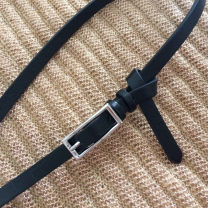 Belt / belt / chain Pu (artificial leather) Black, silver grey female belt Versatile Single loop Youth, middle age Pin buckle other soft surface 1cm alloy alone COAST 92cm