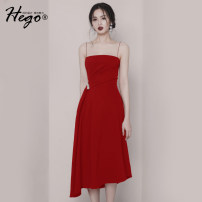 Dress Autumn of 2018 White, black, red XS S M L Mid length dress singleton  Sleeveless commute High waist A-line skirt camisole 30-34 years old Hego Retro BH5523-1 More than 95% polyester fiber Polyester 100% Pure e-commerce (online only)