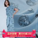 Fabric / fabric / handmade DIY fabric cotton [Note: pure natural embryo cotton ring Bao printing and dyeing], [please shoot: 1 piece = 0.1M long * 1.8m wide] Loose shear piece Others Yarn dyed weaving clothing Europe and America HAODUO 100%
