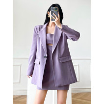 Fashion suit Spring 2021 XS,S,M,L Suit jacket, suspender skirt is hollow, suspender skirt is not hollow 18-25 years old D210306-7881 96% and above