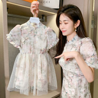 Dress Spring 2021 Picture Decor Short skirt singleton  Short sleeve commute other High waist Broken flowers Socket A-line skirt routine Under 17 Type A Other / other Korean version 30% and below other