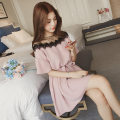 Nursing clothes Pink, black, sling M,L,XL,2XL,3XL Other / other Socket summer Short sleeve Medium length Dress Solid color 141#