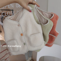 Vest neutral 66cm,73cm,80cm,90cm,100cm,110cm,120cm Other / other winter thickening No model Single breasted Korean version cotton Solid color Cotton 98% other 2% Silk floss Cotton liner 12 months, 9 months, 18 months, 2 years old, 3 years old, 4 years old, 5 years old, 6 years old