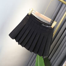 skirt 90cm (5), 100cm (7), 110cm (9), 120cm (11), 130cm (13), 140cm (140), 150cm (150), 160cm (160) Dark grey (tweed, elastic waist) Other / other female Other 100% No season skirt Korean version Solid color Wool Class B