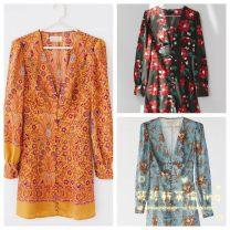Dress Autumn 2020 Blue,Black Multi,Orange L,M,S,XS