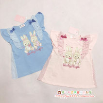 T-shirt Blue, pink in stock Other / other 90cm,100cm,110cm,120cm,130cm,140cm female Short sleeve princess nothing cotton other