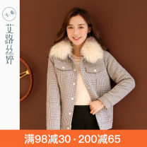 woolen coat Winter of 2019 polyester 71% (inclusive) - 80% (inclusive) routine commute Single breasted routine other lattice Straight tube Y2643 Korean version Aloistine 25-29 years old Pocket button Polyester 80.4% wool 11% viscose 8.6% Pure e-commerce (online sales only) Grey check M L XL XXL