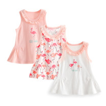 Vest sling Sleeveless 73,80,90,100 summer TATA BEBE female No model Broken flowers Crew neck nothing Pure cotton (95% and above) Cotton 100% Class A 12 months, 18 months, 2 years, 3 months, 6 months, 9 months