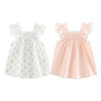 Dress female TATA BEBE 73cm,80cm,90cm,100cm Cotton 100% summer Skirt / vest Broken flowers cotton Class A 12 months, 6 months, 9 months, 18 months, 2 years, 3 years Chinese Mainland