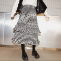 skirt Winter of 2019 S,M,L Mid length dress Sweet Natural waist Cake skirt lattice Type A 18-24 years old C706 81% (inclusive) - 90% (inclusive) cotton college