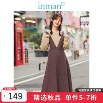 skirt Winter of 2019 S,M,L,XL Dark jujube Mid length dress Versatile Natural waist Strapless skirt Solid color Type A 25-29 years old 51% (inclusive) - 70% (inclusive) other Inman / Inman straps