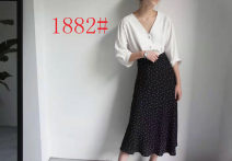 skirt Spring 2021 S,M,L Black and white dots Mid length dress gorgeous High waist skirt Dot Type A 71% (inclusive) - 80% (inclusive) other other