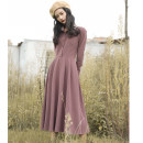Dress Autumn of 2018 Taro purple XS,S,M,L,XL Mid length dress Chicory