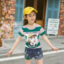 suit Other / other 110cm,120cm,130cm,140cm,150cm,160cm female summer other Short sleeve + pants 2 pieces routine There are models in the real shooting Socket nothing Cartoon animation cotton children Giving presents at school Class B 2, 3, 4, 5, 6, 7, 8, 9, 10, 11