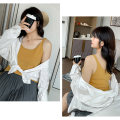 Women's large Spring 2021, summer 2021 XL (about 110-145 kg recommended), 2XL (about 145-175 kg recommended), 3XL (about 170-210 kg recommended) Vest / sling singleton  commute easy thin Cardigan Long sleeves Solid color Korean version Crew neck routine other Three dimensional cutting 25-29 years old