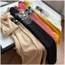 Dress Summer 2020 White, black, yellow, apricot, rust red Average size Mid length dress singleton  Short sleeve commute Crew neck Socket routine 18-24 years old Happy New Year 31% (inclusive) - 50% (inclusive) cotton