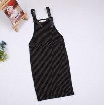 Dress Black and white bar female Yves 110cm,120cm,130cm,140cm,150cm Cotton 62% polyamide 33% polyurethane elastic 5% Four, five, six, seven, eight, nine, ten