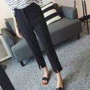 Women's large Autumn 2020 black Large XL, large L, 2XL (recommended 120-140 kg), 3XL (recommended 140-160 kg), 4XL (recommended 160-180 kg), 5XL (recommended 180-200 kg) trousers commute Korean version Ninth pants