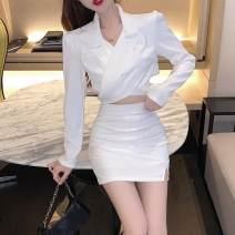 Fashion suit Autumn 2020 S,M,L Black suit, white suit, black skirt, white skirt 18-25 years old 8.9C
