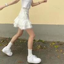 skirt Summer 2020 S,M,L White, black Short skirt commute High waist other Type A 18-24 years old 30% and below cotton Korean version