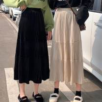 skirt Autumn of 2019 Average size Black skirt, apricot skirt, green skirt Mid length dress Versatile Pleated skirt 18-24 years old 31% (inclusive) - 50% (inclusive) other