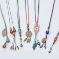 Necklace other RMB 1.00-9.99 Other / other Late winter five leaves slanting red moon slanting blue moon slanting green looking for a bosom friend Fluorescent green emerald green ginger yellow bright yellow brand new ethnic style female goods in stock yes Fresh out of the oven no nothing Not inlaid