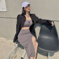 Fashion suit Summer 2021 Average size Gray, black M1055 51% (inclusive) - 70% (inclusive)