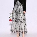 skirt Summer 2021 1 / XS, 2 / s, 3 / m, 4 / L, 5 / XL white Mid length dress commute High waist A-line skirt Dot Type A More than 95% other Pinge Dixin Ol style