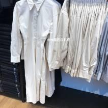 Dress Autumn 2020 XS,S,M,L,XL,2XL singleton  Sweet Solid color Single breasted UNIQLO / UNIQLO More than 95% cotton solar system