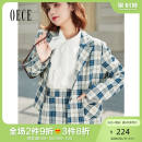 suit Spring 2021 blue XS S M L Long sleeves routine Self cultivation tailored collar A button commute routine lattice 211NR155 25-29 years old 96% and above other Oece Other 100% Same model in shopping mall (sold online and offline)