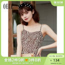 Dress Spring 2021 Coffee S M XS L Short skirt other Sleeveless commute High waist Zebra pattern A-line skirt routine camisole 25-29 years old Oece lady 211HS010 More than 95% other Other 100% Same model in shopping mall (sold online and offline)